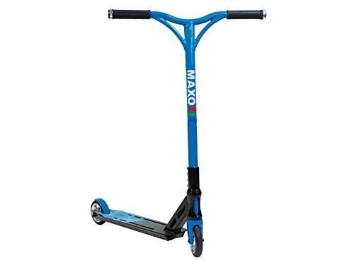 MAXOfit Deluxe Monopattino Freestyle BLUELINE, portata fino a 100 kg, ruote con cuscinetti ABEC 9