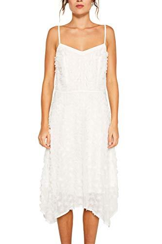 16bf5b7a3cc5e4 ESPRIT Collection Damen 039EO1E002 Kleid, Weiß (Off White 110),  (Herstellergröße: 42)*