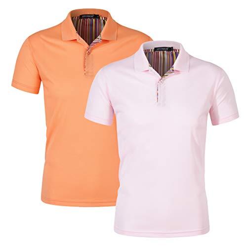 122ff74f Mens Polo Shirts Short Sleeve Design Classic Tops Fashion Polo T-Shirt  Workwear Summer Leisure