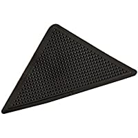 Fangfeen 4pcs Negro Reutilizable de Silicona Grip Lavable Alfombra Alfombra de Pinzas para no Slip Pegatina para el hogar de la Sala de baño