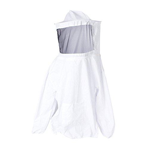Bin Tasche Kostüm - MagiDeal Imkerjacke Imkeranzug, Weiß