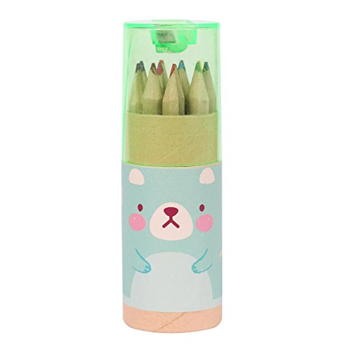 YouN 12 Pintura En Color Set Infantil Safe Washable Watercolor Pen Green