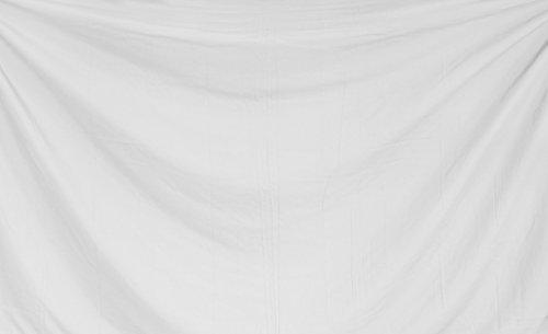 La Leela 100% reiner Baumwolle einfache feste Strand schwimmen Pareo Herren-Sarong Weiß|Plus Größe: M - Xl|Von Der Taille: 32 - 50
