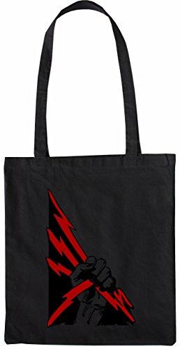 Mister Merchandise Tasche Zeus Fist Stofftasche , Farbe: Schwarz Schwarz