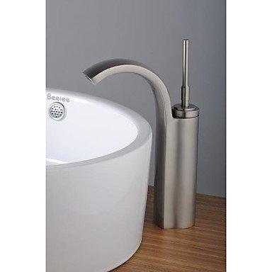 Miaoge Finition nickel contemporaine simple poignée seul trou en laiton de salle de bain Lavabo Robinet (Tall)