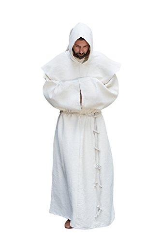 Mönchskutte Benediktus - Natur XXL/XXXL (Fraulein Girl Kostüm)