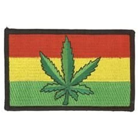 NSI - Pot Marijuana Leaf Rasta Flag Top Quality PATCH PARCHE - 4