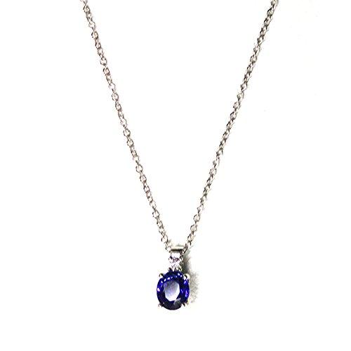 Collana Chimento oro bianco con Zaffiro e Diamante 1G06282HH5450