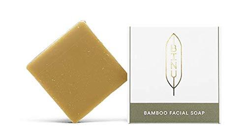 BINU Bamboo Facial Soap | 100% natürlich | Milde Gesichtsreinigung mit Honig, Bambusblatt & Glycerin für normale Haut | handgemachte Gesichtsseife | mit natürlichem Glycerin -