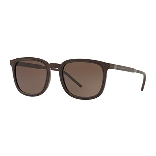Dolce & Gabbana DG6115 Herren Sonnenbrille, Braun, 53mm