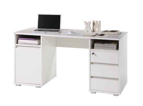 Stella Trading 39-392-17 Primus 2 Schreibtisch, Maße B/H/T circa 145 x 74 x 65 cm, weiß