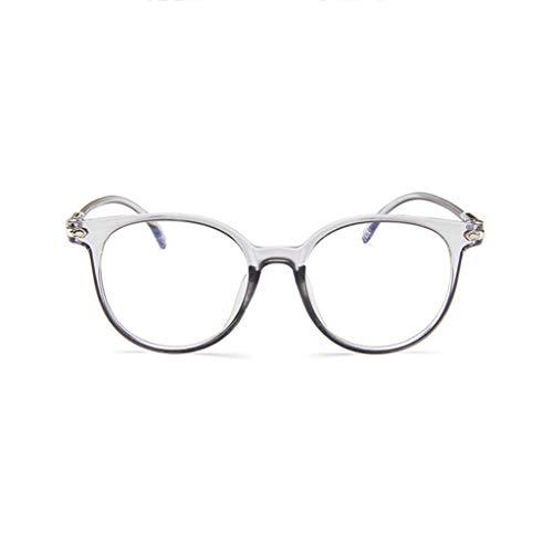 Brille Kostüm Schwarzes Quadrat - REALIKE Unisex Brille Elegant Flacher Spiegel Runder Rahmen Brillengestell Brille Anti-Blaulichtbrille, Retro-Brillengestell Aus, (Farbe : Blau, Schwarz, Lila, Rosa, Weiß)