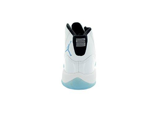 Nike Air Jordan 11 Retro Bg, Chaussures de Sport Garçon Blanc / Bleu (White / Legend Blue-Black)
