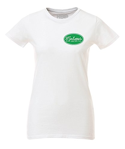 True Blood Merlotte's Logo Women's Fitted T-Shirt, Damen, Wei, XL (T-shirt Fitted Design-womens)