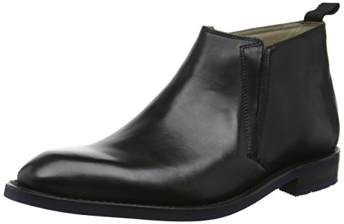 Clarks Herren Swinley Schlupfstiefel Schwarz (Black Leather)
