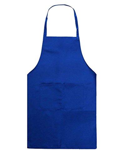 1X Toruiwa Unisex Kinderschürze Schürze Bastelschürze Schürze Arbeitsschürze für Kochen Backen Malen 52 * 55cm (blau)