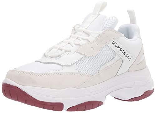 Calvin Klein Jeans Uomo Bianco Marvin Chunky Sneaker-UK 9