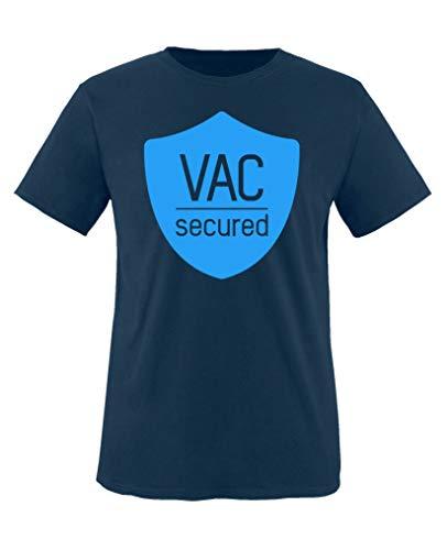 Auge Vac (Comedy Shirts - VAC Secured - Jungen T-Shirt - Navy/Blau Gr. 98-104)