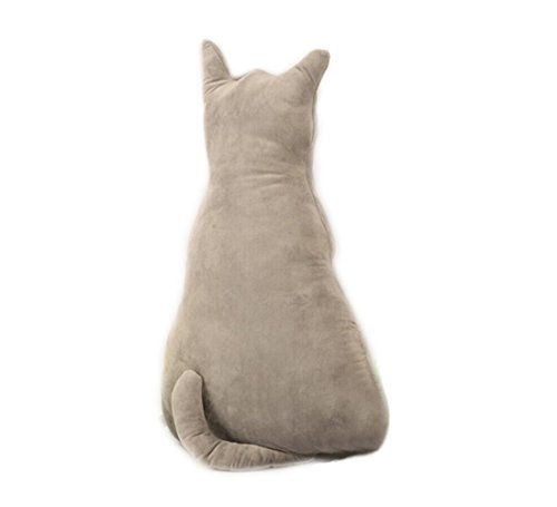 Misslight Simulación 3D gato amortiguador de la espalda Cojín de la almohadilla del coche Cojín decorativo del sofá Amortiguador de la cabeza del gato Cojín de la almohadilla del sofá del coche
