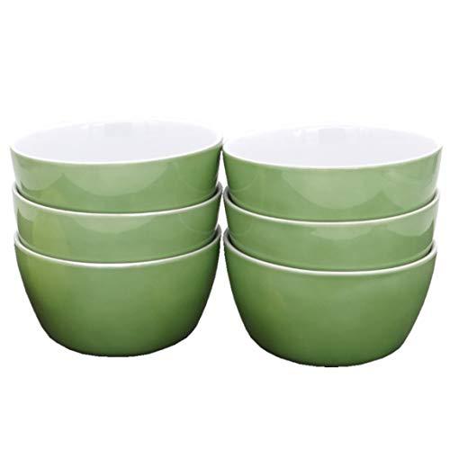 Kahla 39G107A69358C Wildblume Schalen Set grün ohne Dekor 6-teilig 14 cm rund Müslischüssel für...