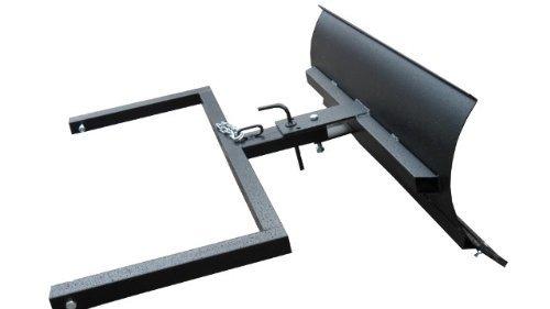 Schneeschild für Aufsitzmäher / Stahl Gewalzt / 100 cm breit / 40 cm hoch / Schwarz / Schwenkbares Schild / Wechselbare Gummischürfleiste / Stiga Villa Park
