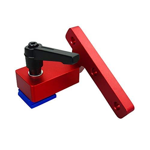 Klinkamz 1 Stück Holzbearbeitungs-Rutsche T-Slot Track Stop Limiter Gehrung Aluminium Legierung Hohe Genauigkeit
