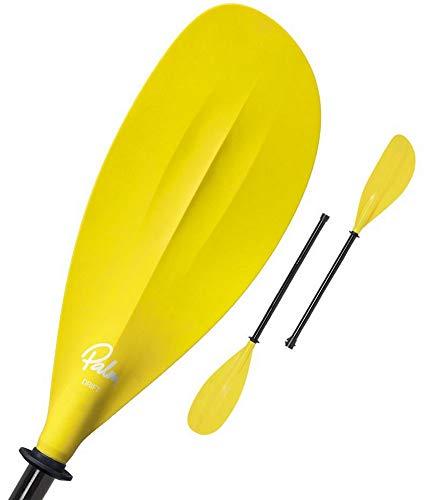 Palm PD64R220Drift Pro Doble Remo Ajustable, 215–220cm Remo Remo Kayak Amarillo Mango Fibra Vidrio Divisible
