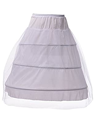 Remedios 3 Hoop Full Petticoat Crinoline Underskirt Slip for Bridal Gown S-XL