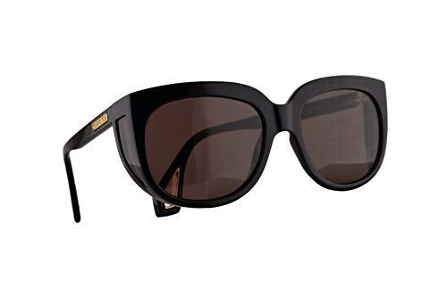 Gucci GG0468S Sonnenbrille Schwarz Mit Braunen Gläsern 57mm 001 GG0468/S 0468/S GG 0468S