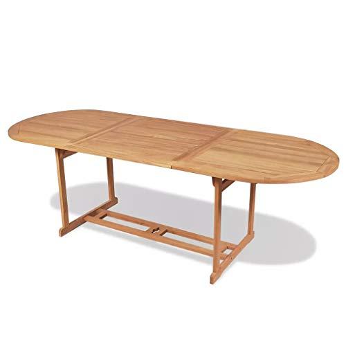 binzhoueushopping Table de Salle à Manger d'extérieur Haute qualité en Teck 240 x 90 x 75cm pour Manger en Plein air dans Le Jardin ou sur Le Patio