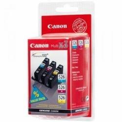 Original Tintenpatronen für Canon Pixma CLI-526C/M/Y Multi-Pack iP4850, MG5150, MG5250, MG6150, MG8150 - CLI-526C , CLI-526M ,