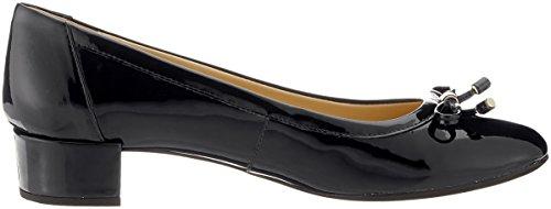 Geox D Carey D, Chaussures À Talons Femme Noir (noir)