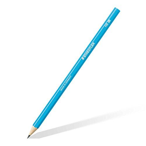 Staedtler 180 HB-F30 Bleistift Wopex HB, 12 Stück, neon blau