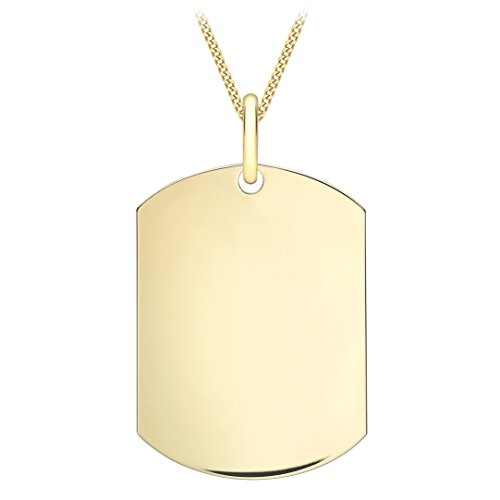 Carissima Gold Unisex-Kette mit Anhänger Single Dog Tag 375 Gelbgold 51 cm - 1.46.2615 -