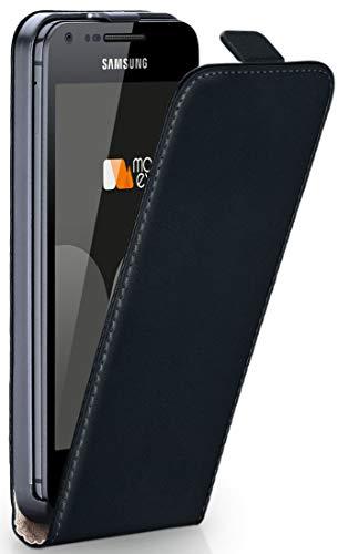 Cover OneFlow per Samsung Galaxy S Advance Custodia con magnete   Flip Case Astuccio Cover per cellulare apribile   Custodia cellulare Cellulare protezione Paraurti Cover rotettiva con guscio DEEP-BLACK Galaxy S Advance