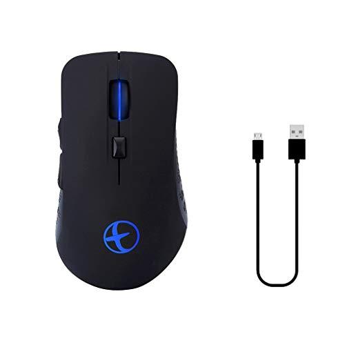 Maus Bluetooth 4.0 & 2.4G Dual Mode wiederaufladbare Variable Light Game Wireless Mäuse (schwarz)