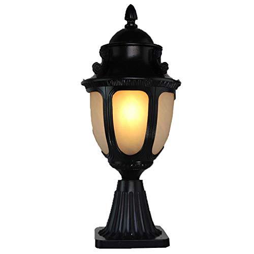 DEI QI Europäische antike Retro schwarz LED im freien Wasserdichte säule Lampe pfad Rasen Garten glaslaterne regenfest tischlampe -