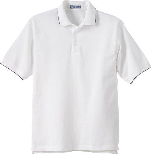 Extreme Herren Jersey Polo mit Bleistift Stripe. 85032 WHT/BLACK W10
