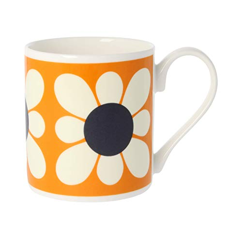Orla Kiely carré Fleur Marguerite Orange, Mug en porcelaine anglaise
