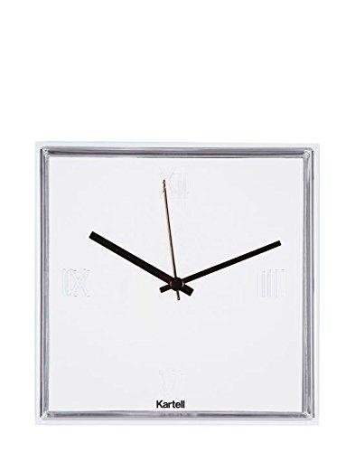 Kartell 190003 Tic und Tac Wanduhr Plastik, 30 x 30 x 8 cm, weiß