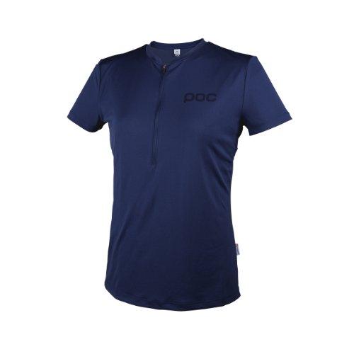 POC Trail Light T-Shirt zippé Femme Pewter Blu - Boron Blue