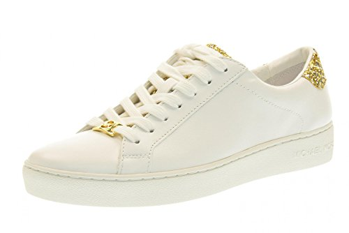 michael-kors-donna-sneakers-basse-43s6irfs1l-irving-lace-up-bianco-oro-taglia-38-bianco-oro