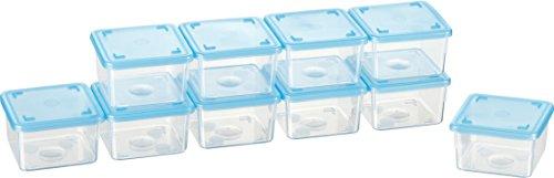 Kigima Mini-Tiefkühldose 0,125l rechteckig 6,5x6,5x4 cm 10er Set