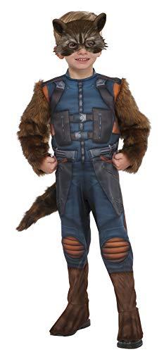 Deluxe Toddler Rocket Raccoon Fancy dress costume X-Small (Rocket Raccoon Deluxe Kind Kostüme)
