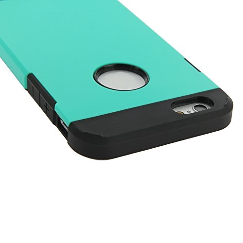 GHC Cases & Covers, Hybrid PC + TPU Tough Armor Farbe Hard Case Cover für iPhone 6 ( Color : Pink ) Blue
