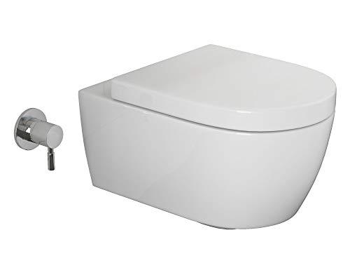 SSWW Design Dusch-WC CT2019V-C Taharet Toilette inkl. abnehmbaren WC-Sitz mit Softclose-Funktion Bidet-Funktion