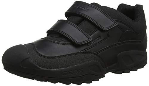 Geox Jungen J New Savage Boy B ABX B Sneaker, Schwarz (Black C9999), 36 EU Boys-school-sneakers