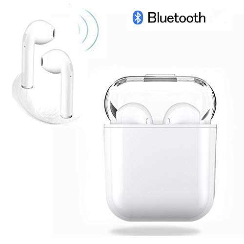 I8X Auricular Bluetooth de Llamada Bilateral, Mini Auricular estéreo inalámbrico con reducción de Ruido, con Caja de Carga y micrófono para Todos los teléfonos Inteligentes de Gama Alta