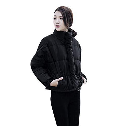 Manadlian Damen Winterjacke Frau Beiläufig Einfarbig Stehkragen Schlank Winter Mantel Outwear Jacke...