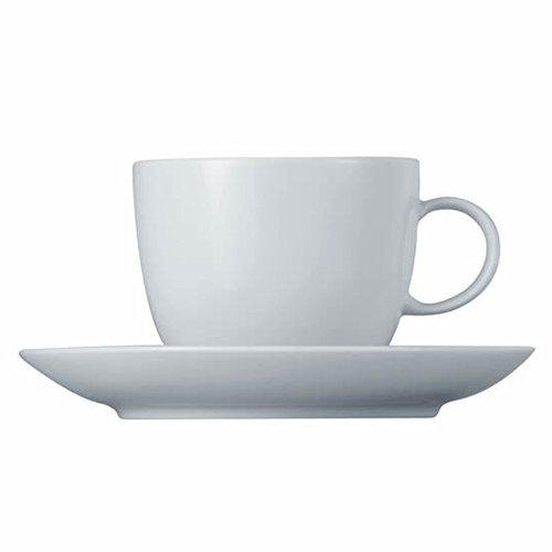 Tasse à Café et Soucoupe Thomas Sunny Day, Porcelaine, ROK-Weiß, Compatible Lave-Vaisselle, 20 cl, 2 Pièces, 14740